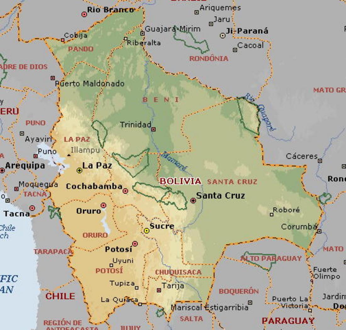 Of Bolivia - Bolivia map